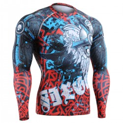 """The Chungo"" FULL - FIXGEAR Second Skin Technical Compression Shirt - Special MMA Design."