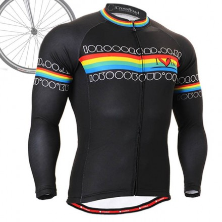"""""""Primary"""" - FIXGEAR Long Sleeve Cycling Jersey."""