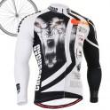 """""""Wolf Cross"""" - FIXGEAR Long Sleeve Cycling Jersey."""