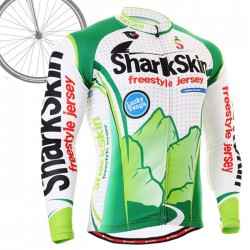 """Shark Skin"" - FIXGEAR Long Sleeve Cycling Jersey."