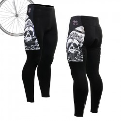 """Pinstripe Skull"" - FIXGEAR Long Cycling Pants."