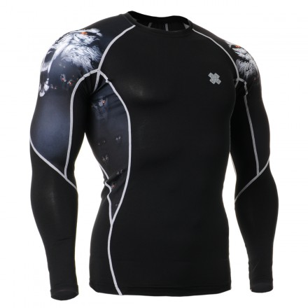 """Canis Lupus"" - FIXGEAR Second Skin Technical Compression Shirt ."