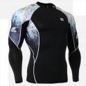 """Splash"" - FIXGEAR Second Skin Technical Compression Shirt ."