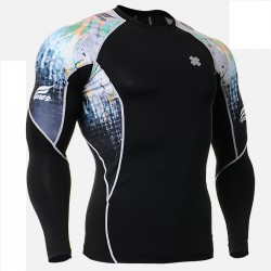 """Splash"" - FIXGEAR Second Skin Technical Compression Shirt ."