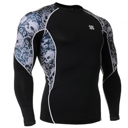 """""""Calaveras a la Hiedra"""" - Camiseta Técnica de Compresión Segunda Piel FIXGEAR."""