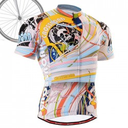 """Hallucinating Skull"" - FIXGEAR Short Sleeve Cycling Jersey."