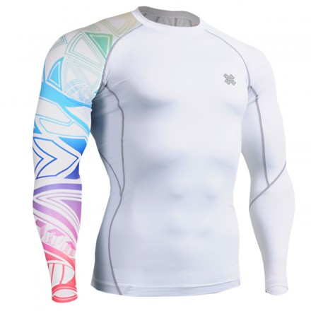 """Tribal Colors"" - FIXGEAR Second Skin Technical Compression Shirt ."