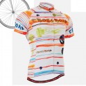 """""""Ribbons & Flames"""" - FIXGEAR Short Sleeve Cycling Jersey."""