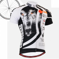 """Wolf Cross"" - FIXGEAR Short Sleeve Cycling Jersey."