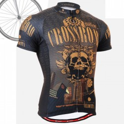 """Crossroad Skull"" - FIXGEAR Short Sleeve Cycling Jersey."
