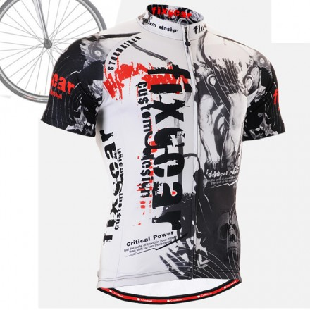 """Time Skull"" - FIXGEAR Short Sleeve Cycling Jersey."