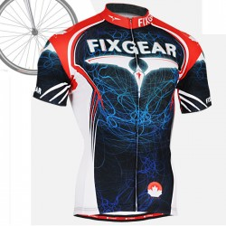"""Light Pilot"" - FIXGEAR Short Sleeve Cycling Jersey."