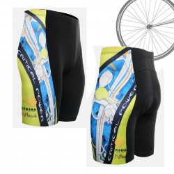 """The Skeleton"" Blue - FIXGEAR Short Cycling Pants."