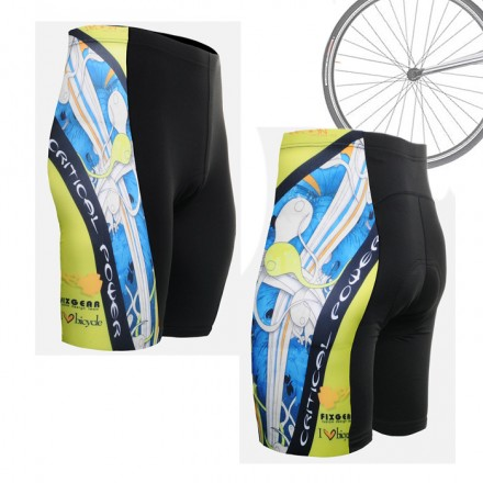 """El Esqueleto"" Azul - Pantalón Corto de Ciclismo FIXGEAR."