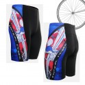"""""""The Skeleton"""" Red - FIXGEAR Short Cycling Pants."""