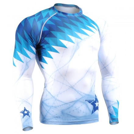 """Ice Razors"" - FIXGEAR Second Skin Technical Compression Shirt ."