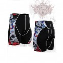 """""""The Skeleton"""" Red - FIXGEAR Second Skin Technical Compression Shorts ."""