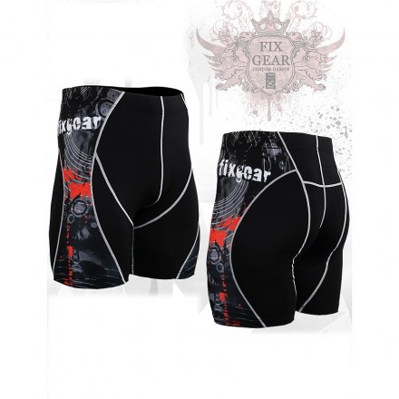 """Time Skull"" - FIXGEAR Second Skin Technical Compression Shorts ."