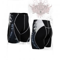 """Melted Skulls"" - FIXGEAR Second Skin Technical Compression Shorts ."