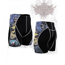 """The Comic"" - FIXGEAR Second Skin Technical Compression Shorts ."