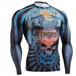 """Laughing Buddha"" FULL - FIXGEAR Second Skin Technical Compression Shirt - Special MMA Design."
