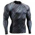 """""""Trazas Oscuras"""" - Camiseta Técnica de Compresión Segunda Piel FIXGEAR."""