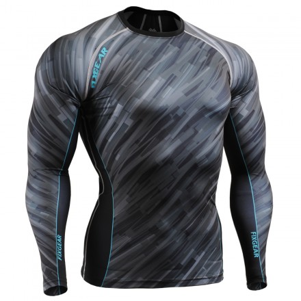 """Dark Traces"" - FIXGEAR Second Skin Technical Compression Shirt ."