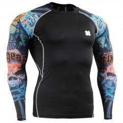 """""""Buddha Risitas"""" Mangas - Camiseta Técnica de Compresión Segunda Piel FIXGEAR - Diseño Especial MMA"""
