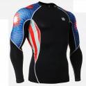 """""""Americanada"""" - Camiseta Técnica de Compresión Segunda Piel FIXGEAR."""