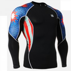 """Americanada"" - FIXGEAR Second Skin Technical Compression Shirt."
