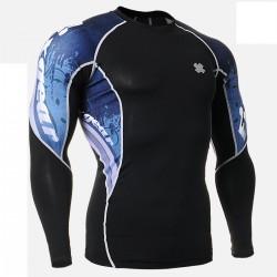 """Waves"" - Camiseta Técnica de Compresión Segunda Piel FIXGEAR."