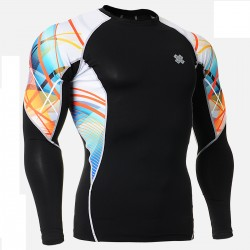 """""""Ribbons"""" - FIXGEAR Second Skin Technical Compression Shirt."""
