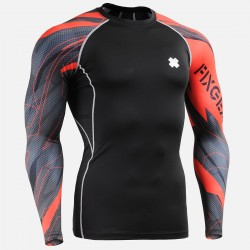"""Splinters"" Sleeves  - FIXGEAR Second Skin Technical Compression Shirt ."
