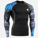 """Stellar Storm""  - FIXGEAR Second Skin Technical Compression Shirt ."