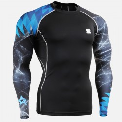"""Stellar Storm""  - FIXGEAR Second Skin Technical Compression Shirt ."