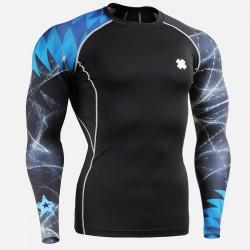 """Tormenta Estelar"" - Camiseta Técnica de Compresión Segunda Piel FIXGEAR."