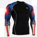 """""""Duo Americanada"""" - Camiseta Técnica de Compresión Segunda Piel FIXGEAR."""