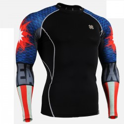 """Duo Americanada""  - FIXGEAR Second Skin Technical Compression Shirt ."