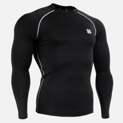 """BLACK FIX"" Long Sleeve - FIXGEAR Second Skin Technical Compression Shirt ."