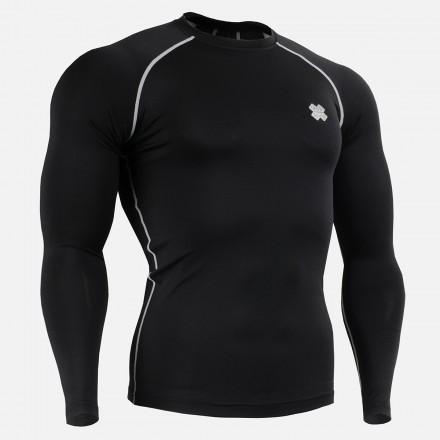"""BLACK FIX"" Long Sleeve - FIXGEAR Second Skin Technical Compression Shirt ."