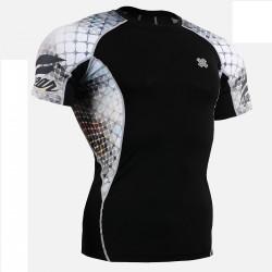 """The Net"" Short Sleeve - FIXGEAR Short Sleeve Second Skin Technical Compression Shirt."