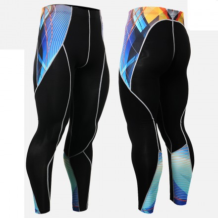 """""""Ribbons"""" - FIXGEAR Second Skin Technical Compression Tights ."""