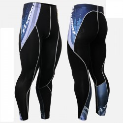 """Waves"" - FIXGEAR Second Skin Technical Compression Tights ."