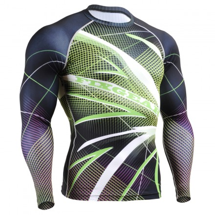 """Grid Birds"" - FIXGEAR Second Skin Technical Compression Shirt ."