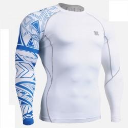 """""""Tribal Azul"""" - Camiseta Técnica de Compresión Segunda Piel FIXGEAR."""