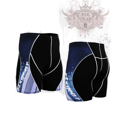 """""""Waves"""" - FIXGEAR Second Skin Technical Compression Shorts ."""