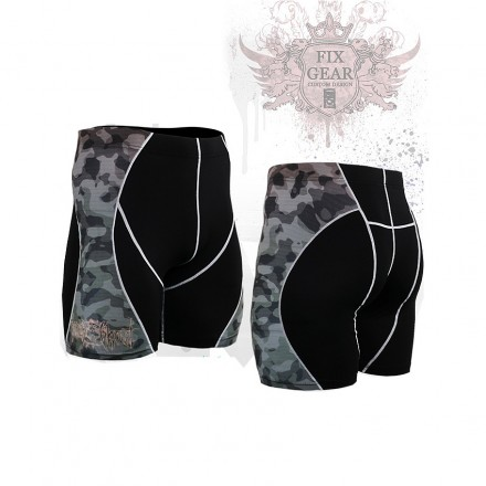 """""""Camouflage"""" - FIXGEAR Second Skin Technical Compression Shorts ."""