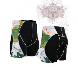 """Wounded Forrest"" - FIXGEAR Second Skin Technical Compression Shorts ."