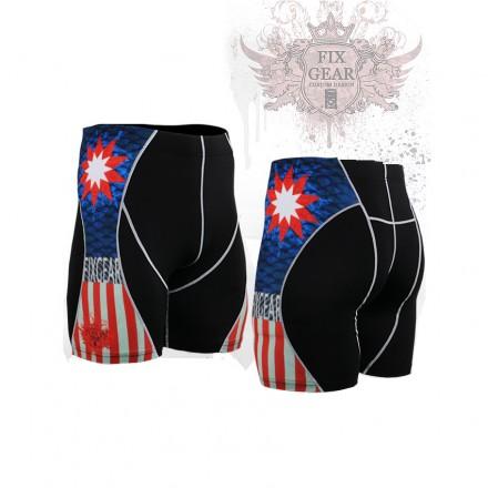 """""""Americanada"""" - FIXGEAR Second Skin Technical Compression Shorts ."""