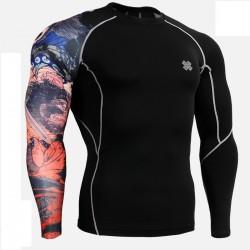 """""""El Guerrero"""" - Camiseta Técnica de Compresión Segunda Piel FIXGEAR."""
